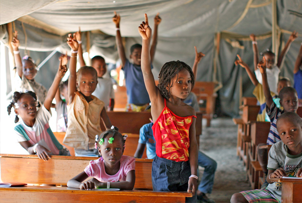 Image result for Haitian school children